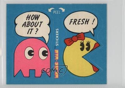 1981 Fleer Ms Pac-Man Stickers #52 How About it? Fresh! Non-Sports Card 2k3