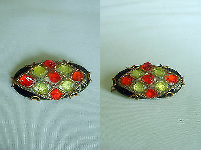 BROCHE ANCIENNE EMAUX LIMOGES FAURE  Création
