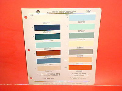 1957 Buick Roadmaster Super Century Special Convertible Riviera Paint Chips 57