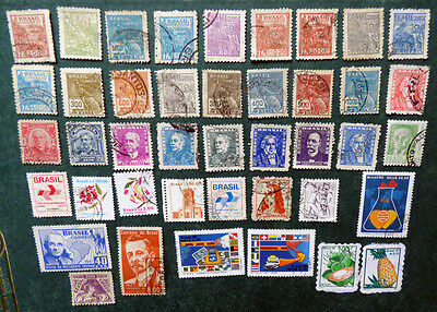 Brazil mix of 42 mostly used stamps