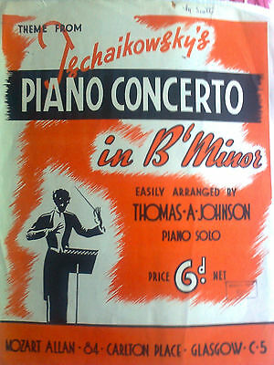 Theme From Tschaikowsky's Piano Concerto Music Sheet