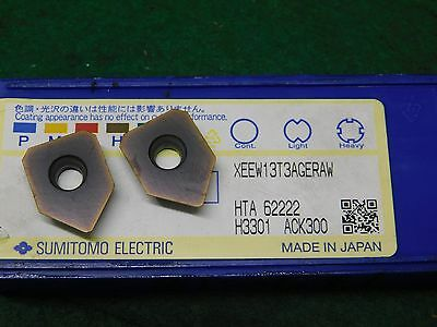 2 Sumitomo XEEW 13T3AGERAW ACK300 Carbide Inserts