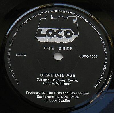 "Deep-Desperate Age-UK Vinyl 7""-DIY Welsh Minimal Synth Wave Private-1982-HEAR"