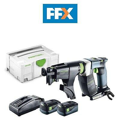 Festool DWC 18-2500 Li 5,2-Plus 18v 2x5.2ah Cordless Drywall Screwdriver Sys 2