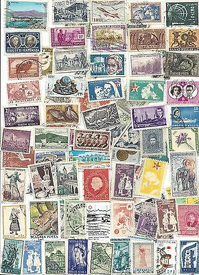 75 Different cancelled Worldwide Stamps 9/30A