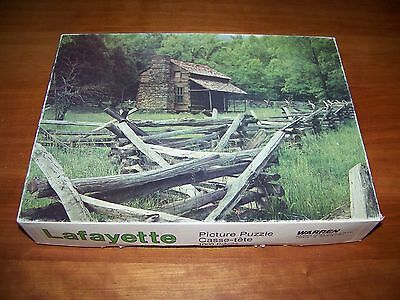 TENNESSEE CABIN Jigsaw Puzzle Lafayette 1000 Pieces Warren Paper