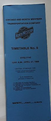 Chicago & North Western Railway 1986 System Employee Timetable  #8