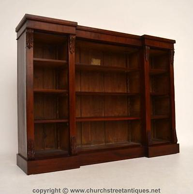 Antique Victorian Mahogany 3 Section Open Bookcase