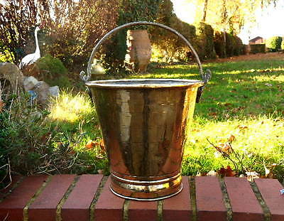 Georgian English Army Officers Antique Brass Pail / Bucket