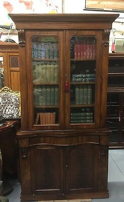 Superb Early Victorian Flame Veneer Bookcase. Open To Offers.