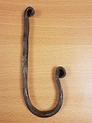 Handmade Rustic Wrought Iron Cast Iron Coat Hat Hook