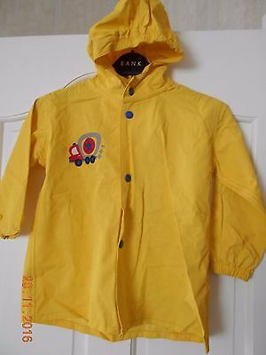 Wippette Kids Yellow Vinyl Hooded Coat Age 2 - 3 Truck Motif C/W own carry bag