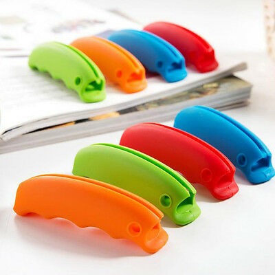 Plastic Shopping Bag Basket Easy Carrier Silicone Holder Handle Grip 5 Colors