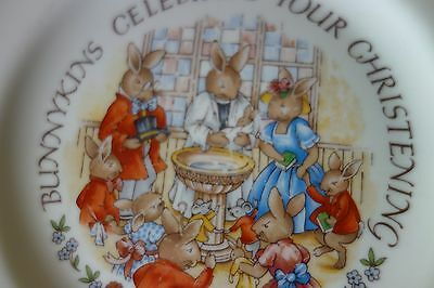 Royal Doulton Baby Bunnykins Christening Plate Gift vgc