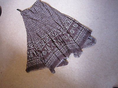 Brown/white lined handkerchief skirt women/teen - size 28(EUR)/ UK 0 - worn once