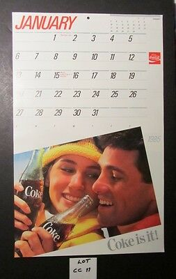"Old Store Stock - 1985 ""coca-Cola"" Calendar - 17.5"" Long X 11""- Across"
