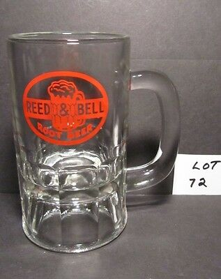 Mid-Century Reed & Bell Root Beer Heavy Glass Mug With Red Wording