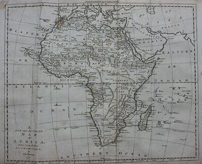 Original antique map  AFRICA, T. Bowen 'New & Complete System of Geography' 1777
