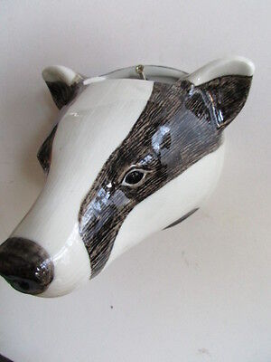 Large Badger Wall Vase Planter  Glazed Ceramic By Quail Pottery Boxed Ideal Gift