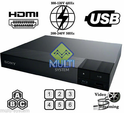 Sony Bdp-S1700 All Region Free Blu-Ray Dvd Player - Zone A,b,c & Dvd: 0-9, Usb