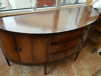 Bow fronted Bevan Funnell mahogany sideboard. Repro Georgian style.Well crafted.