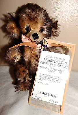 6 inch Merrythought  Apricot Tipped Micro Cheeky Teddy Bear T6A Limited Edition