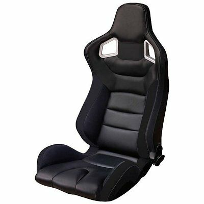 Autostyle Sport Seat Type RS6 Black PVC (dual side)