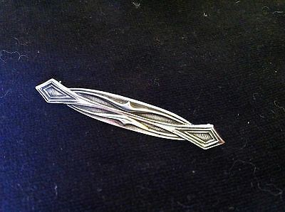 Small Unger Bros Brothers Sterling Silver Bar Pin