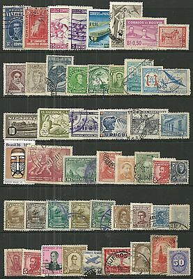 CENTRAL & SOUTH AMERICA A collection of (49) stamps