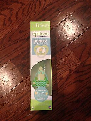 EASTER Dr. Brown's Special Edition Spring Baby Bottle & Pacifier Set *NEW* 8 oz