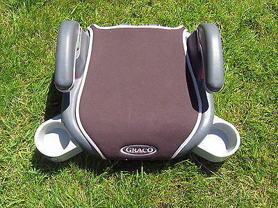 Graco Childs Car Booster Car Seat With Cup Holders Grey