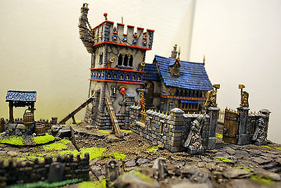 "WARHAMMER age of sigmar WAR GAME SCENERY ""CASTLE"" WATCHTOWER - CHAPEL  PRO PAINT"