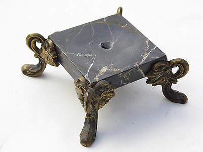 Vintage Ornate Footed L & L WMC 1968 Table Lamp Intermediate Base Part Marble #2