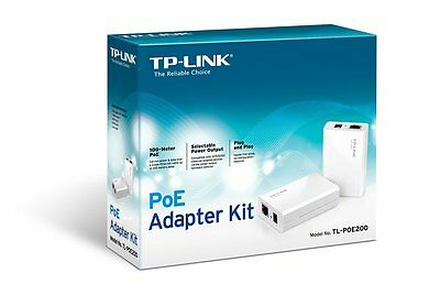 2 x TP-LINK TL-POE200 Power over Ethernet Adapter Kit