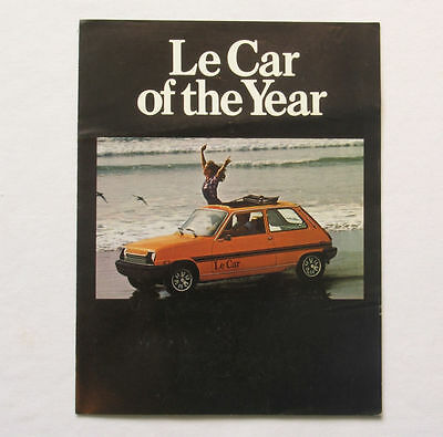 Le Car of the Year Renault Promotional Brochure Automobile Late 1970's Ad LeCar