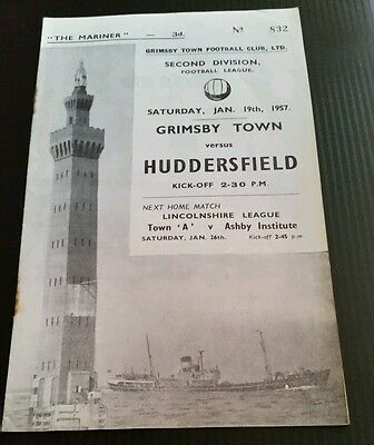 Grimsby Town v Huddersfield Town Programme 19/01/57