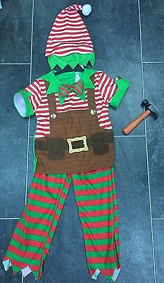 Elf Outfit Including Hat And Hammer 3-4 Years
