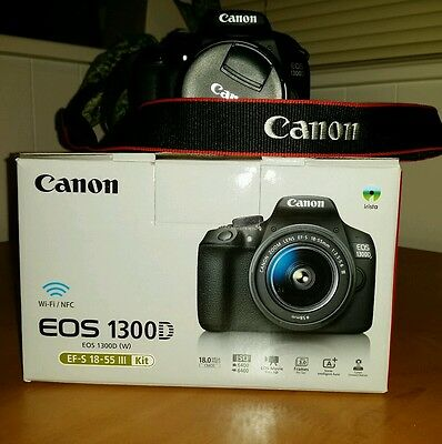 Canon EOS 1300 D  18mp  with EF-S 18-55 Zoom lens.