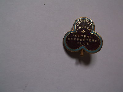 Vintage Crystal Palace Football Supporters Club Enamel Badge