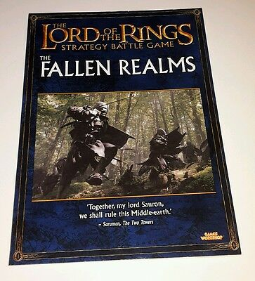 fallen realms codex Warhammer Games Workshop Lord of the rings