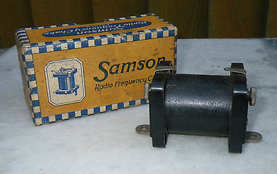 1920s ORIGINAL BOXED SAMPSON RADIO FREQUENCY CHOKE