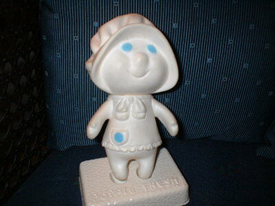 Collectable Pilsbury Dough Rubber Poppie Fresh Doll With Stand