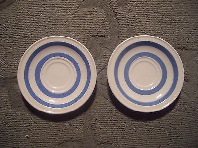 2x vintage carricaline pottery saucers