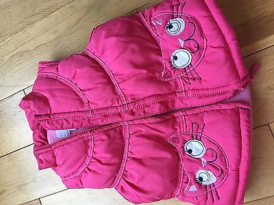 Next Pink Padded Bodywarmer Gilet 4-5