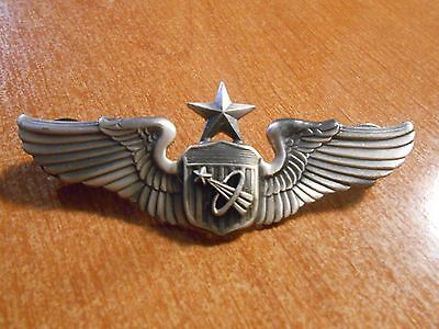 Quality Metal 1980s Replica United States Air Force Astronaut Lapel Wings