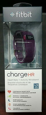 Brand New Sealed Fitbit Charge HR Activity Tracker with Heart Rate Plum Large