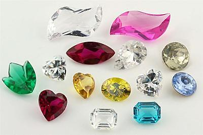 Mixed Lot Synthetic Lab Created Gems Fancy Shape Faceted 14 Stones