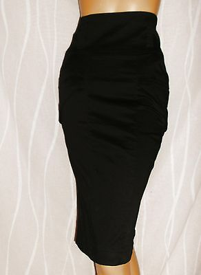 Atmosphere Black High Waist Side Pockets Pencil Skirt Size 8