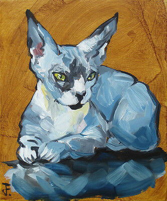 Sphynx Cat - Unique Oil Painting by Jessie Fowler - Art from Ireland