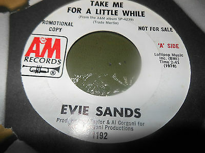 Evie Sands Take Me For A Little While A&M Demo Vinyl Northern Soul Record